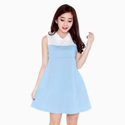 Đầm suông 2 màu dạo phố màu xanh ngọc