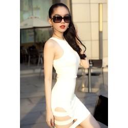 Chuyên sỉ - Đầm body cổ yếm khoét đùi xinh đẹp và thời trang