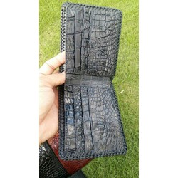 Ví da cá sấu 2 mặt đan viền, khuyến mại giá sốc