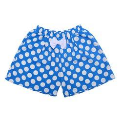 Quần váy chấm bi đính nơ - xanh 4