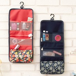 Túi treo 3 ngăn hoa đựng mỹ phẩm gấp gọn tiện ích