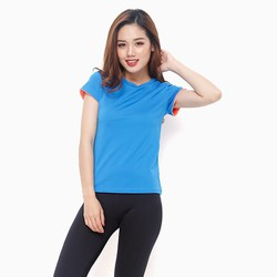 Áo thể thao nữ tay ngắn năng động màu Xanh - size M