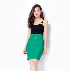 Chân váy ngắn công sở màu xanh A36