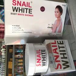 combo tắm trắng + dưỡng toàn thân snail white