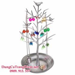 Giá treo trang sức hình thân cây bạc