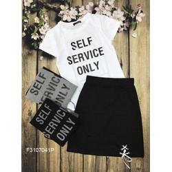Set áo thun họa tiết chân váy hàng thiết kế! MS: S310724 GS: 140K