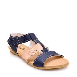 Giày da thật cho bé N003 - xanh đen size 31