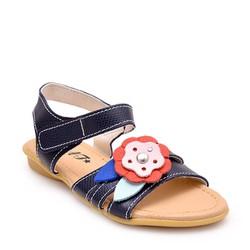 Giày da thật cho bé N010 - xanh đen size 31