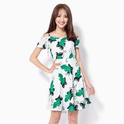 Đầm suông họa tiết nho