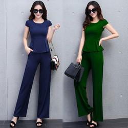 Set quần dài peplum thời trang