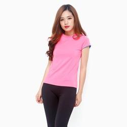 Áo thể thao nữ tay ngắn năng động màu hồng Neon - size M
