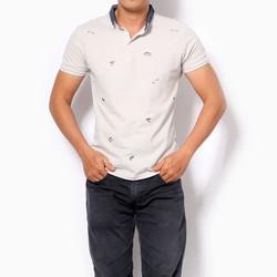 Áo thun họa tiết nhí màu xám size XL