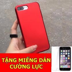 Ốp dẻo đỏ dành cho iPhone6 và 6s Tặng 01 miếng dán cường lực