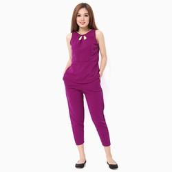 Sét đồ bộ nữ áo sát nách thời trang màu tím MS09