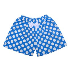 Quần váy chấm bi đính nơ - xanh 6