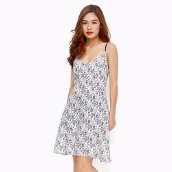 Đầm nữ 2 dây họa tiết hoa cây trẻ trung