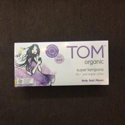 Băng vệ sinh dạng Tampon TOM Organic Super Tampons 2x7 pack