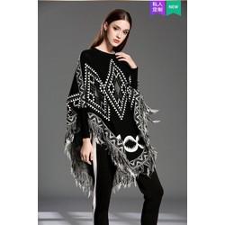 Áo len tua rua hoạ tiết, hàng nhập Quảng Châu