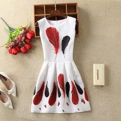 Đầm Gấm In Họa Tiết_ Quảng Châu