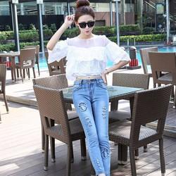 Hàng nhập Loại 1 - Quần Jeans Thuê Hoa Sang Trọng - Q01