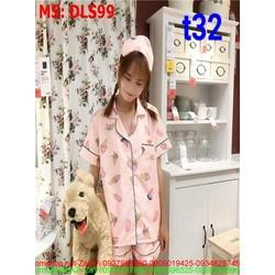 Sét bộ đồ ngủ pyjama hình cây kem dễ thương DLS99