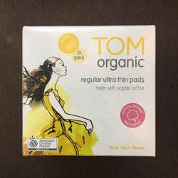 Băng vệ sinh dạng miếng Tom organic Regular Untra Thin Pads 10 pack