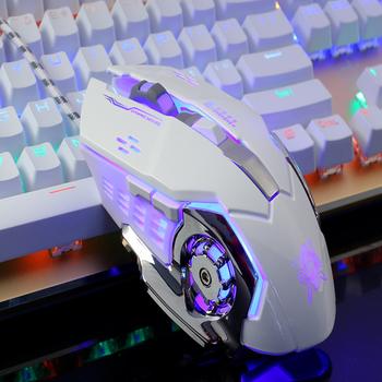 Chuột game thủ Detek G502 Trắng