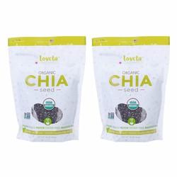 Combo 2 Thực Phẩm Chức Năng Hạt Chia Seed Loveta Organics 454g