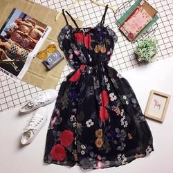 Đầm voan hoa bèo ngực