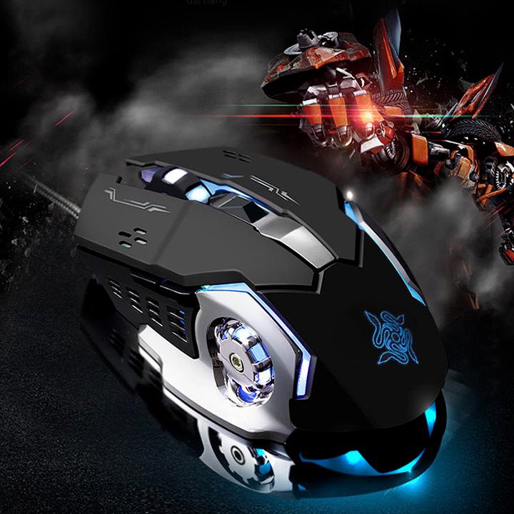Chuột game thủ Detek G502 LED Đen 2