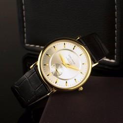 Đồng hồ OGAME dây da kính chống xướt chạy full kim OM01