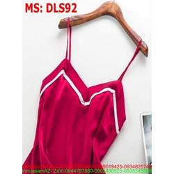 Sét bộ đồ ngủ áo 2 dây phối quần short viền thời trang DLS92