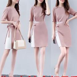 Đầm suông cột eo cao cấp