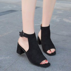 giày cao gót hở mũi quai cài