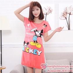 Đầm ngủ hoạt hình chuột mickey