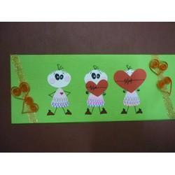 Thiệp handmade sinh nhật valentine