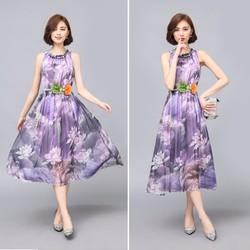 Đầm Maxi hoa dễ thương - M,L, XL