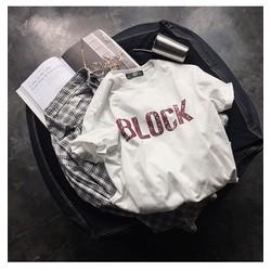 ÁO THUN TAY LỠ CHỮ BLOCK