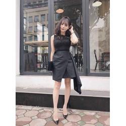 Đầm ren đắp chéo cực xinh