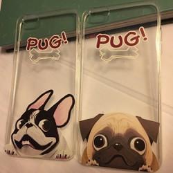 Apple iPhone 6 Plus 6S Plus - Ốp lưng nhựa dẻo TPU trong in hình cún