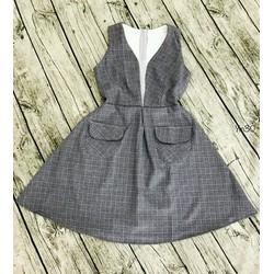 Đầm cổ vest cao cấp