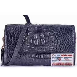 Túi xách nữ da cá sấu đeo chéo màu đen