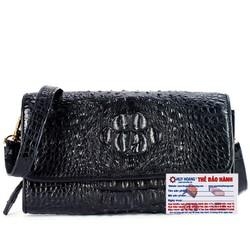 Túi đeo nữ da cá sấu Huy Hoàng màu đen