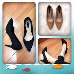 Giày cao gót da lộn hàng đẹp