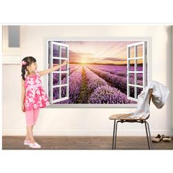 Tranh giấy dán tường cửa sổ 3D nhiều họa tiết