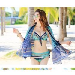 Bikini bơi kèm khăn choàng