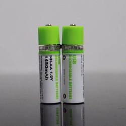 Pin sạc AA  1,2v 1450mAh Đầu sạc USB tiện lợi vĩ 2 viên