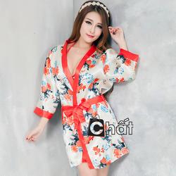 Áo Choàng Ngủ Hoa Cúc + Tặng Kèm Bộ Nội Y