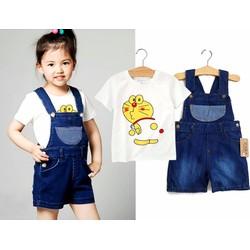 Set áo và yếm Jeans Doremon cực dễ thương