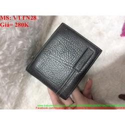Ví nam da mềm màu đen mẫu đẹp full box VTTN28